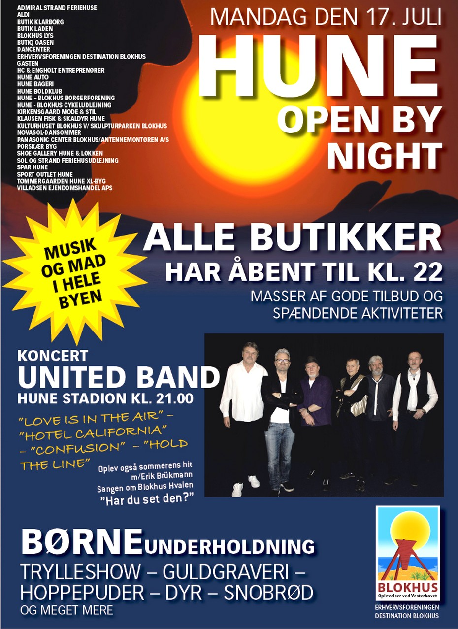 Enkeltsider Hune By Night 2017-2